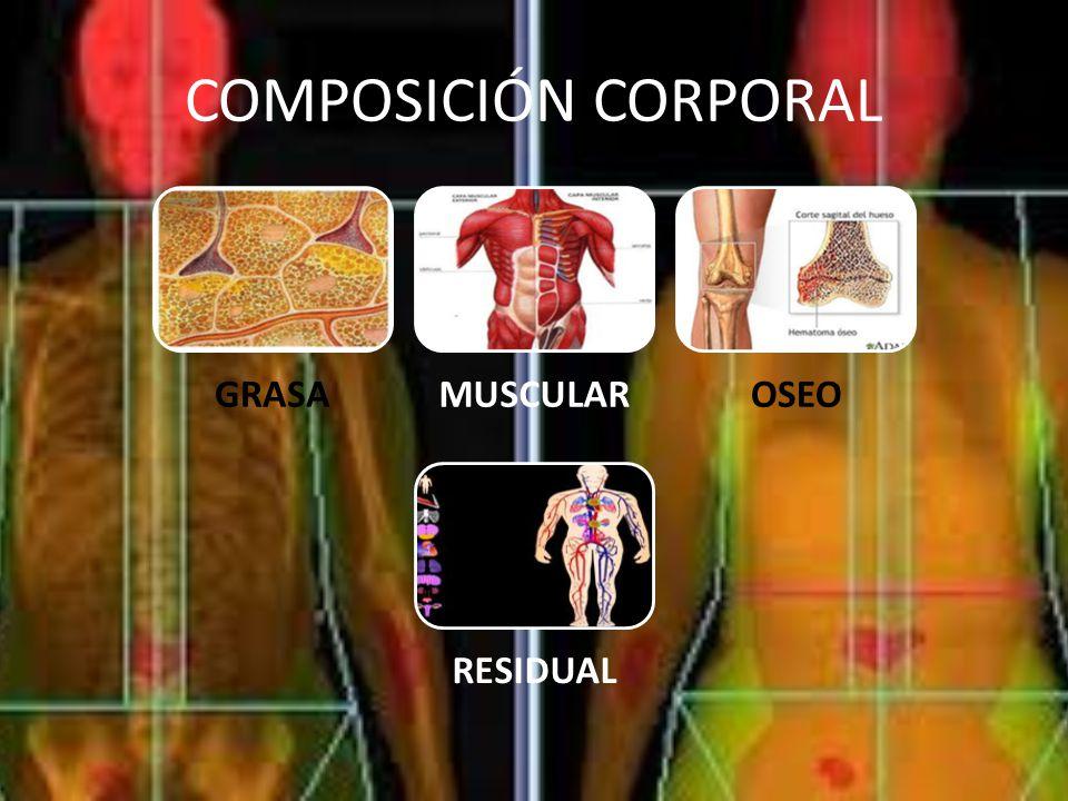 COMPOSICIÓN CORPORAL GRASA MUSCULAR OSEO RESIDUAL