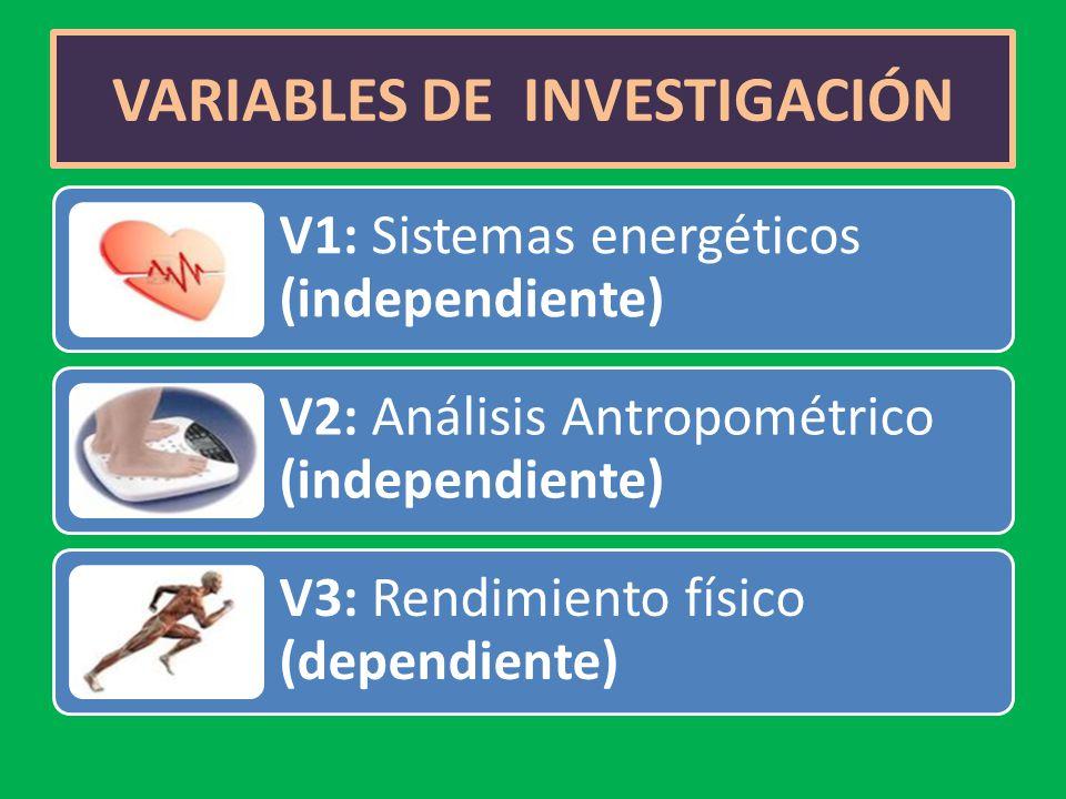VARIABLES DE INVESTIGACIÓN