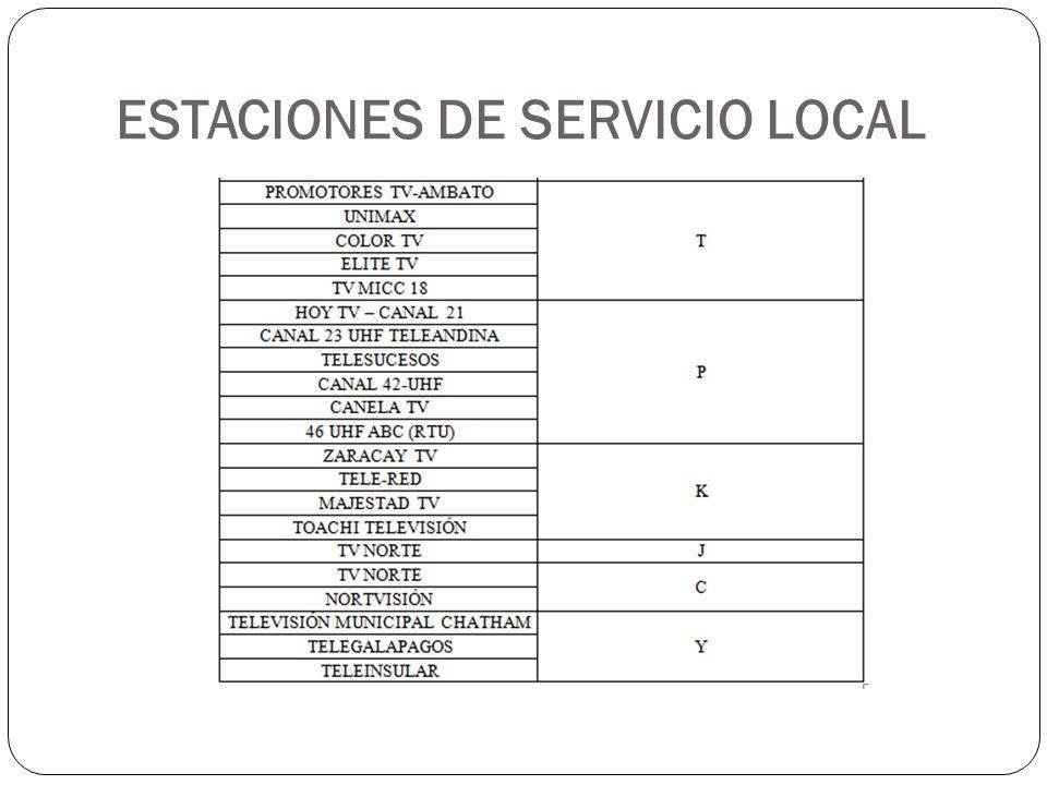 ESTACIONES DE SERVICIO LOCAL