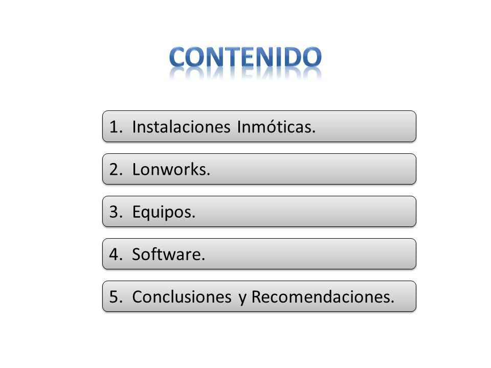 CONTENIDO 1. Instalaciones Inmóticas. 2. Lonworks. 3. Equipos.