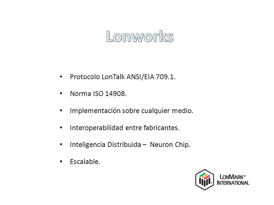 Lonworks Protocolo LonTalk ANSI/EIA 709.1. Norma ISO 14908.