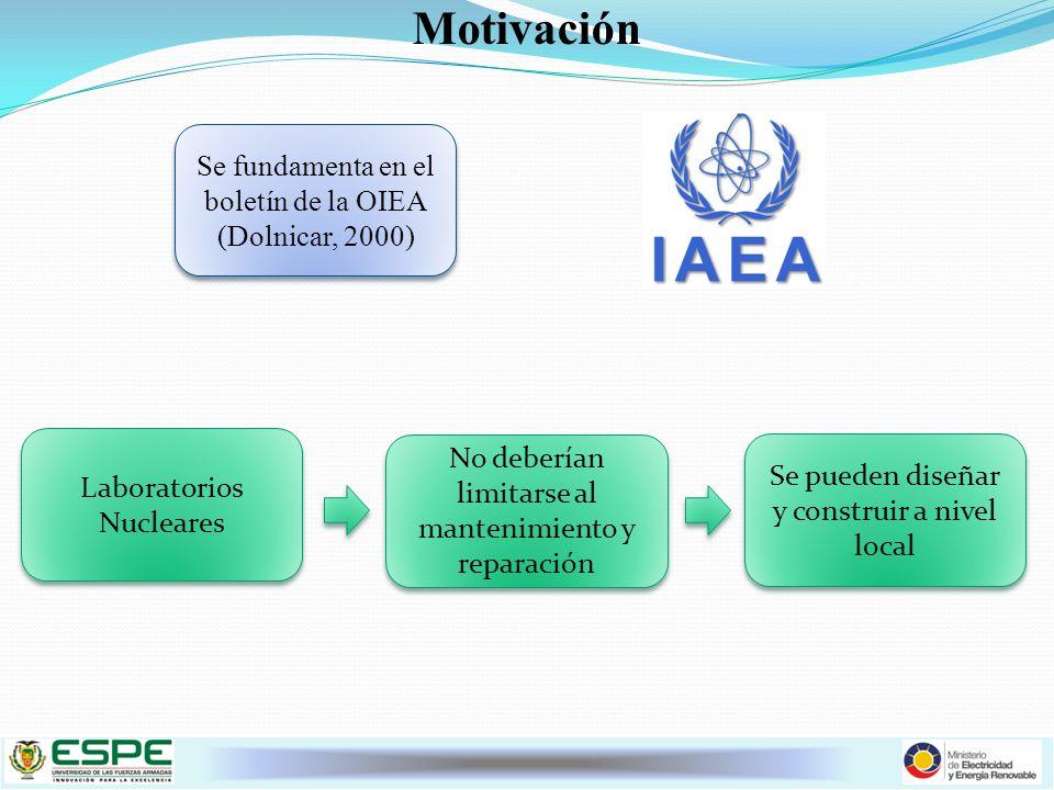 Motivación Se fundamenta en el boletín de la OIEA (Dolnicar, 2000)