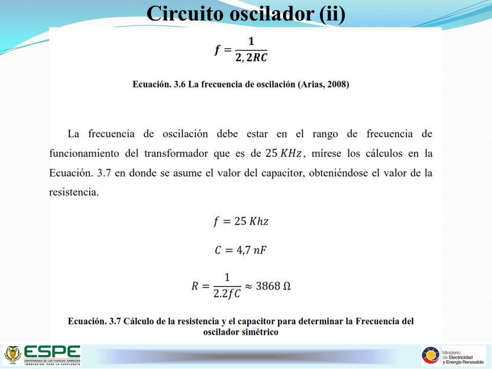 Circuito oscilador (ii)