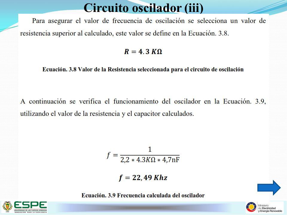 Circuito oscilador (iii)