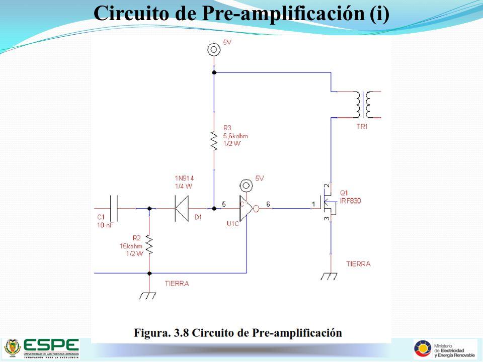 Circuito de Pre-amplificación (i)