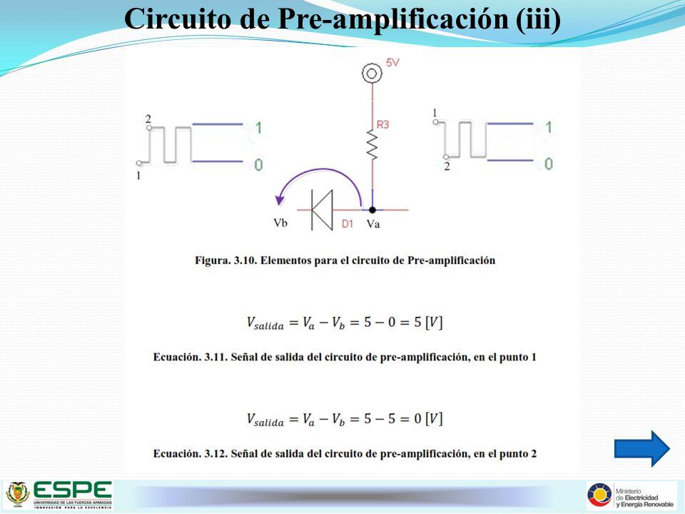 Circuito de Pre-amplificación (iii)