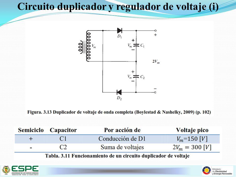 Circuito duplicador y regulador de voltaje (i)