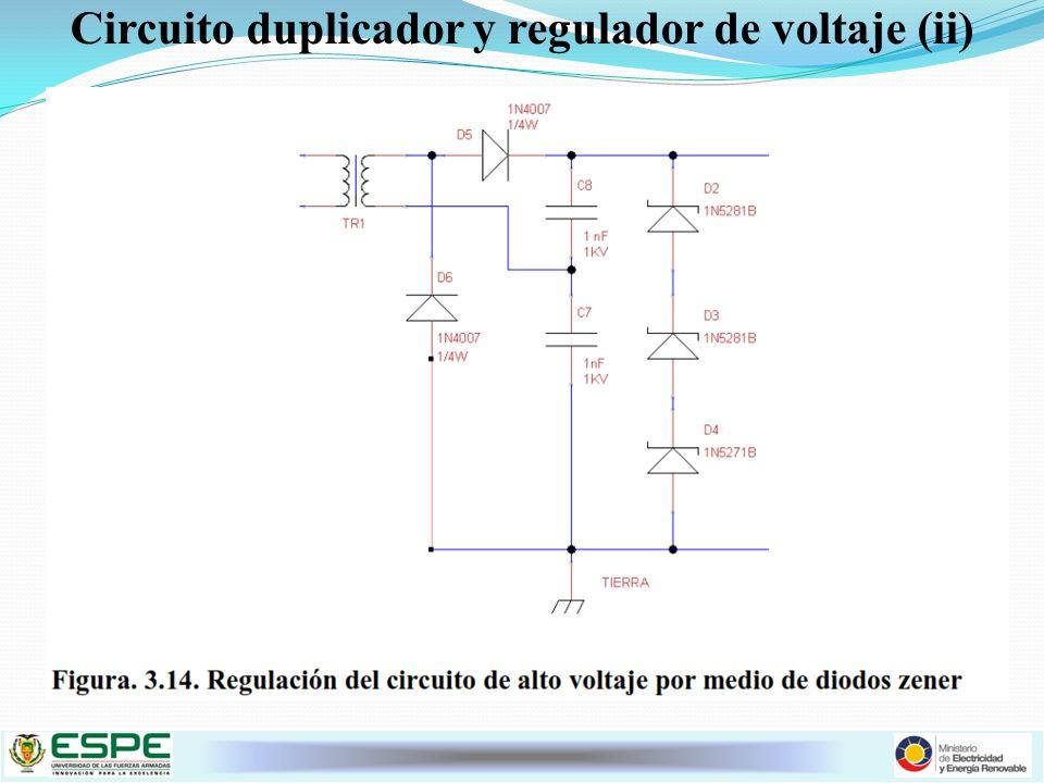 Circuito duplicador y regulador de voltaje (ii)