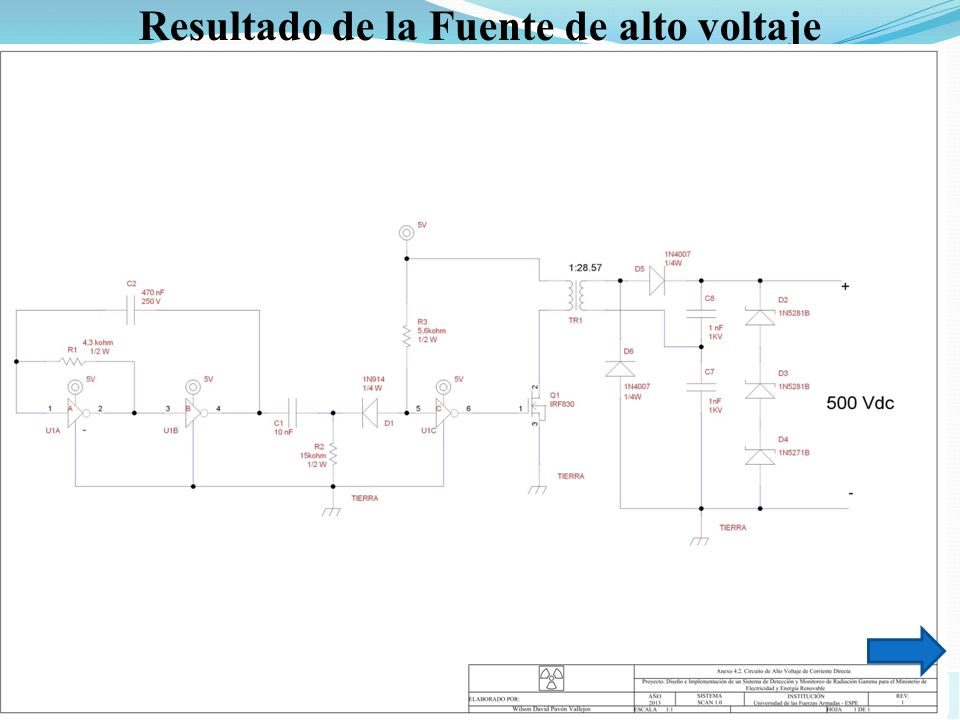 Resultado de la Fuente de alto voltaje