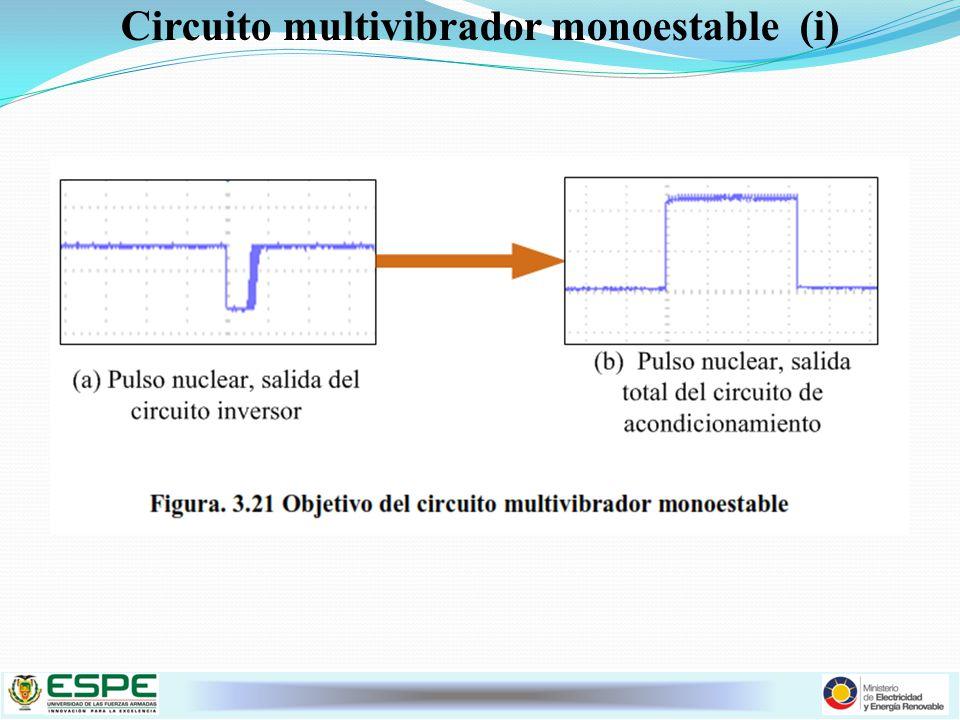 Circuito multivibrador monoestable (i)