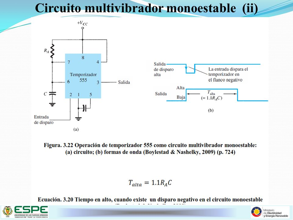 Circuito multivibrador monoestable (ii)