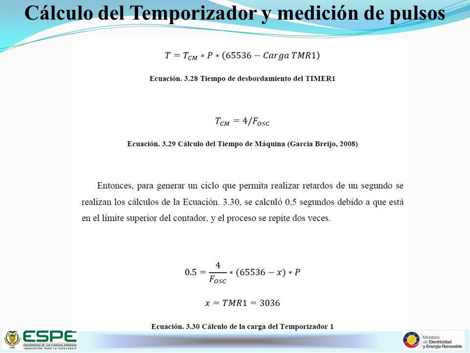 Cálculo del Temporizador y medición de pulsos