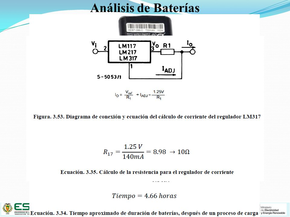 Análisis de Baterías Alimentación Eléctrica