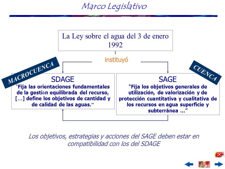 La Ley sobre el agua del 3 de enero 1992