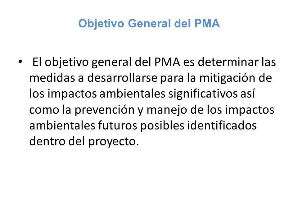 Objetivo General del PMA