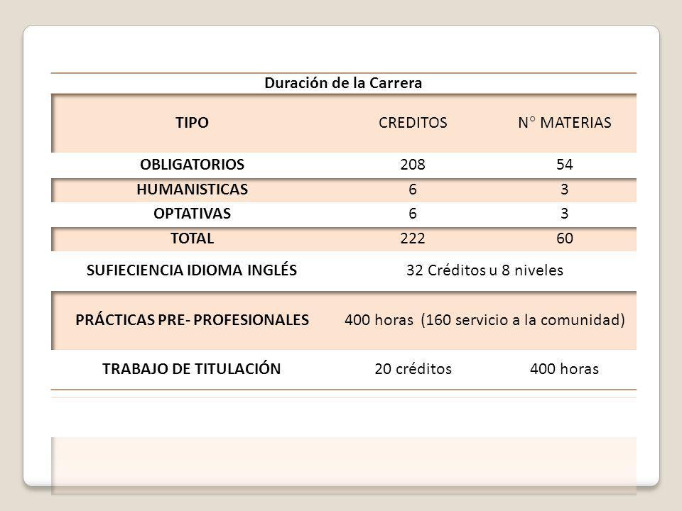 SUFIECIENCIA IDIOMA INGLÉS PRÁCTICAS PRE- PROFESIONALES