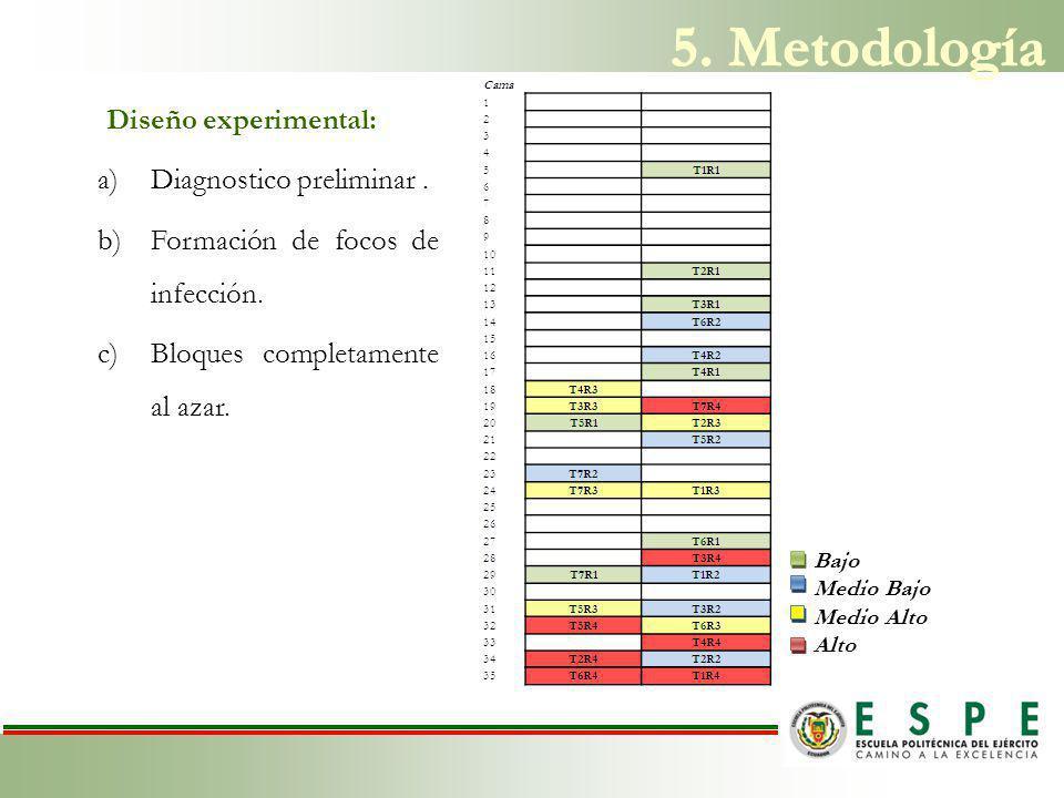 5. Metodología Diseño experimental: Diagnostico preliminar .