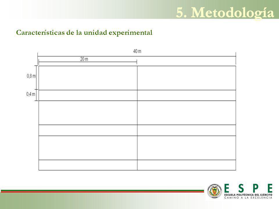 5. Metodología Características de la unidad experimental