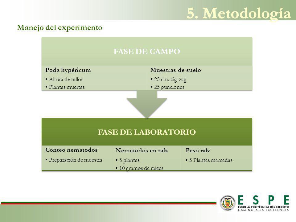 5. Metodología FASE DE LABORATORIO FASE DE CAMPO