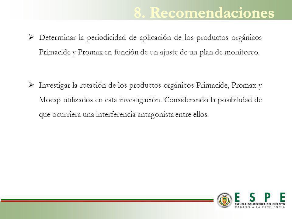 8. Recomendaciones
