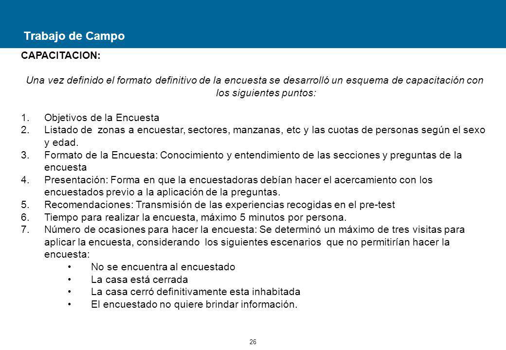 Trabajo de Campo CAPACITACION: