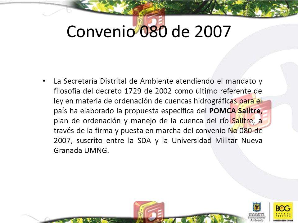 Convenio 080 de 2007