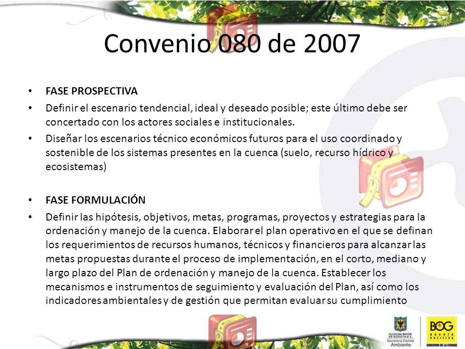 Convenio 080 de 2007 FASE PROSPECTIVA