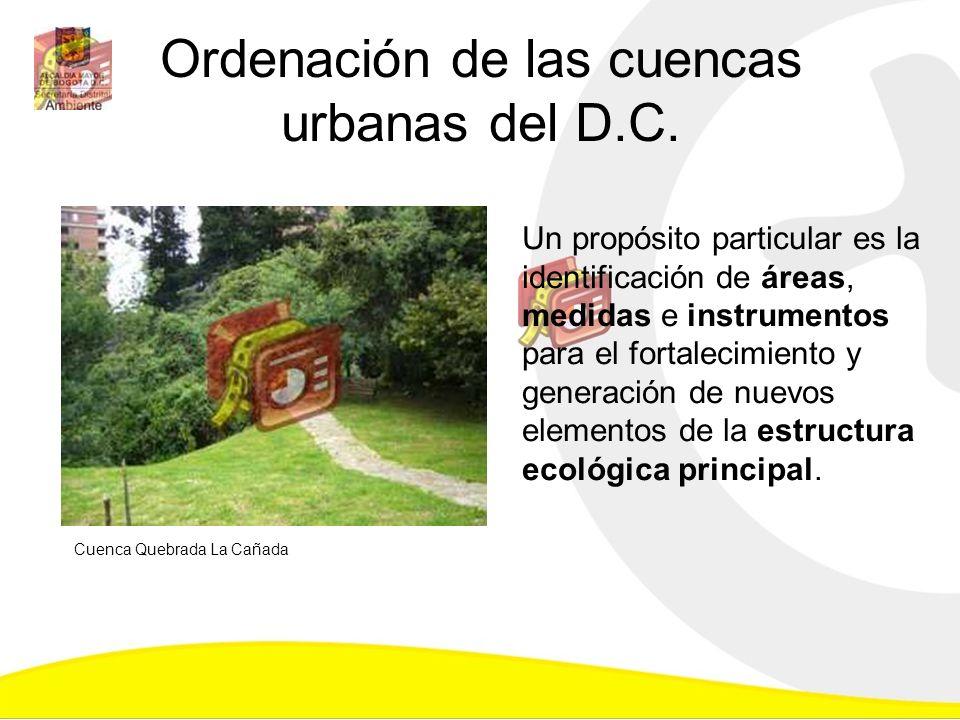 Ordenación de las cuencas urbanas del D.C.