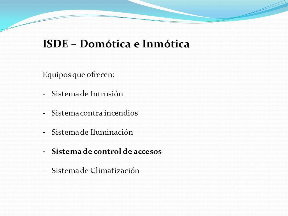 ISDE – Domótica e Inmótica