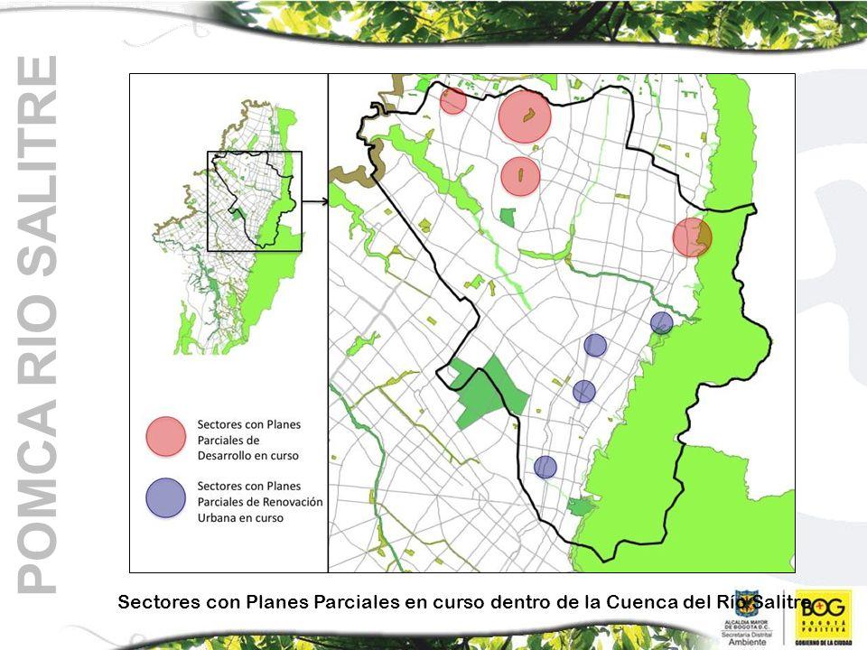 POMCA RIO SALITRE Sectores con Planes Parciales en curso dentro de la Cuenca del Río Salitre