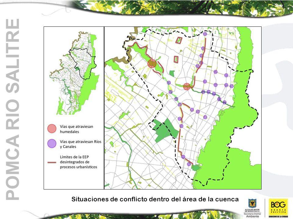 POMCA RIO SALITRE Situaciones de conflicto dentro del área de la cuenca
