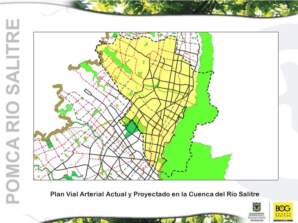 POMCA RIO SALITRE Plan Vial Arterial Actual y Proyectado en la Cuenca del Río Salitre