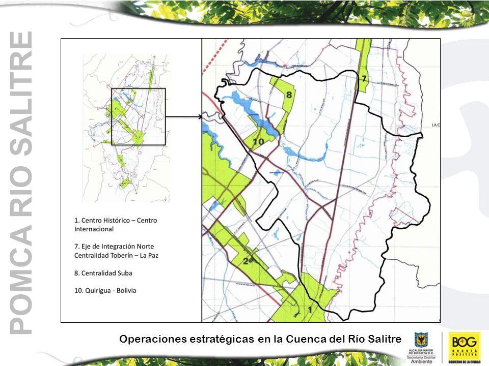 POMCA RIO SALITRE Operaciones estratégicas en la Cuenca del Río Salitre