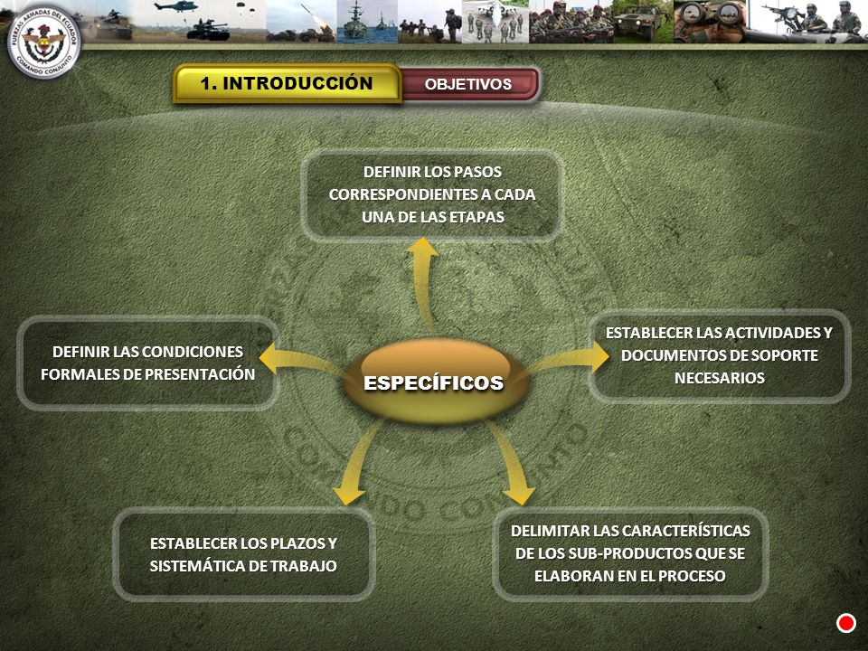ESPECÍFICOS 1. INTRODUCCIÓN
