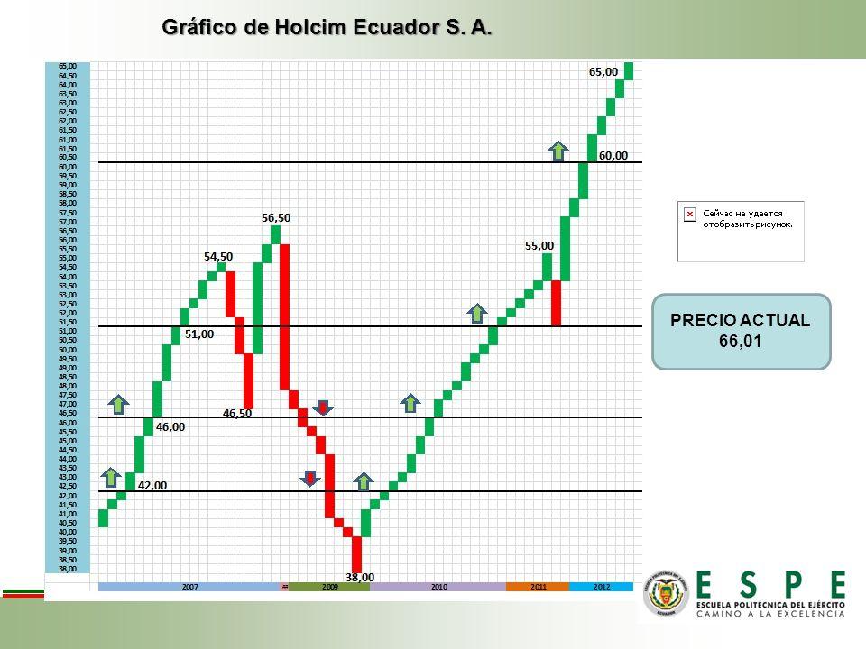 Gráfico de Holcim Ecuador S. A.