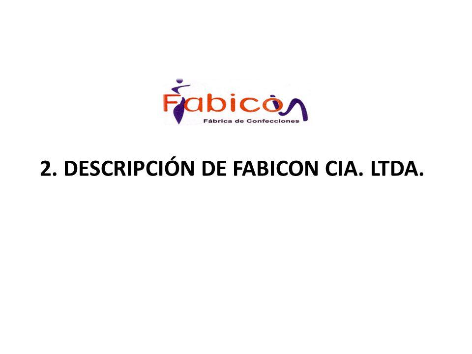 2. DESCRIPCIÓN DE FABICON CIA. LTDA.