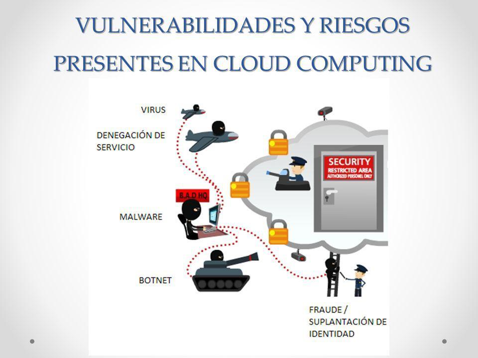 VULNERABILIDADES Y RIESGOS PRESENTES EN CLOUD COMPUTING