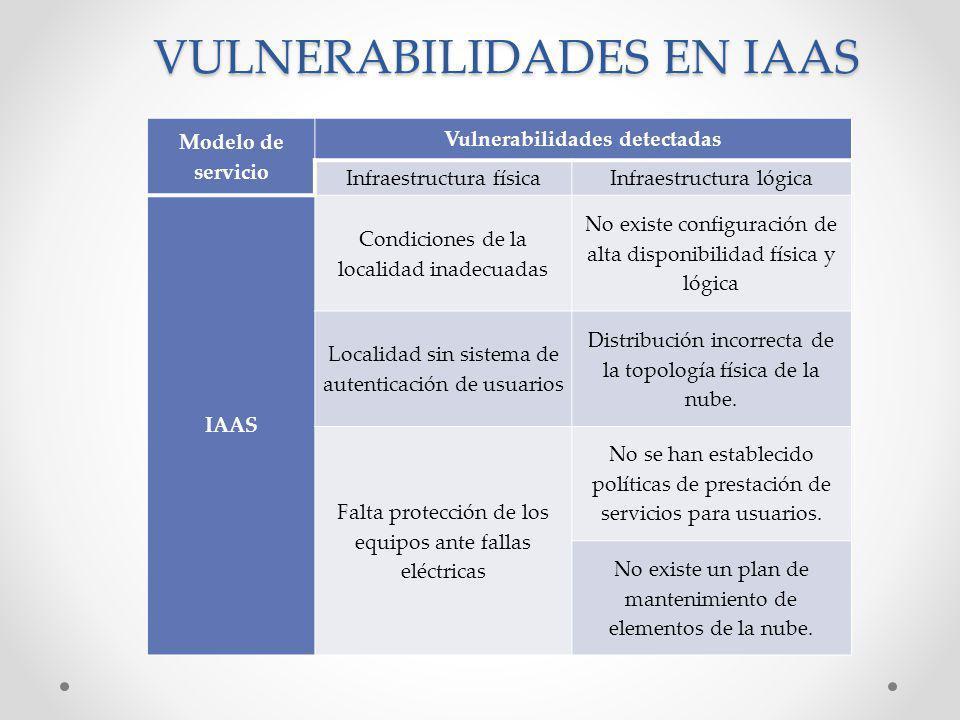 VULNERABILIDADES EN IAAS