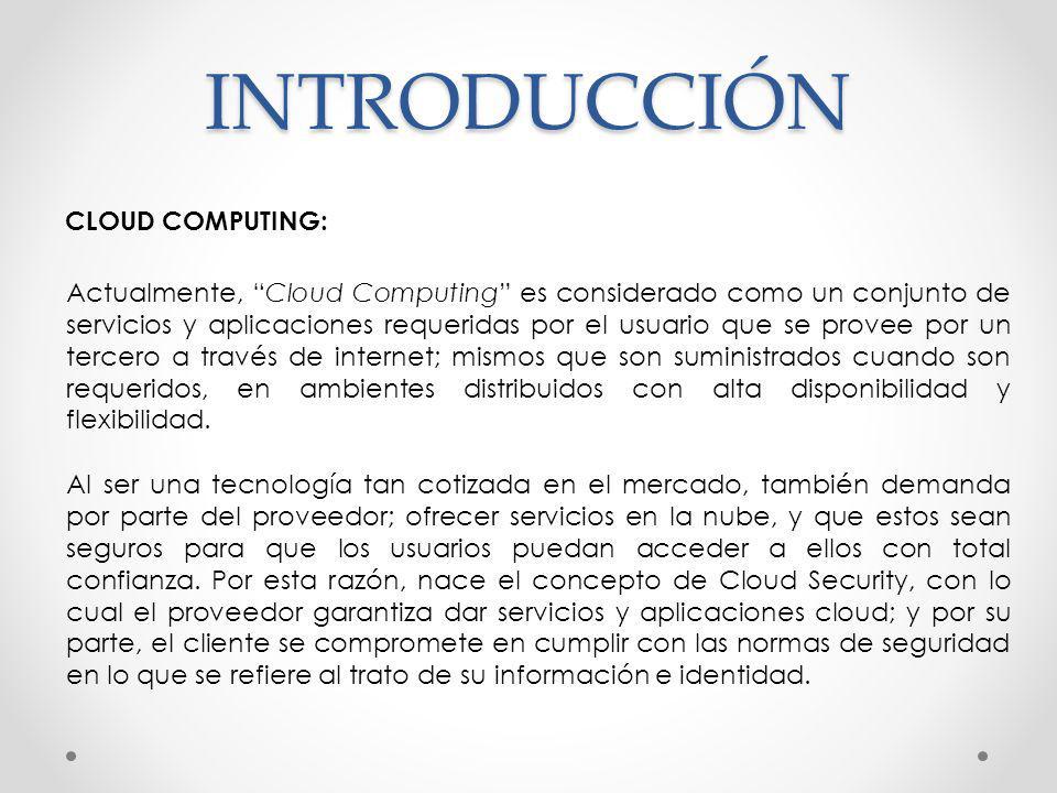 INTRODUCCIÓN CLOUD COMPUTING: