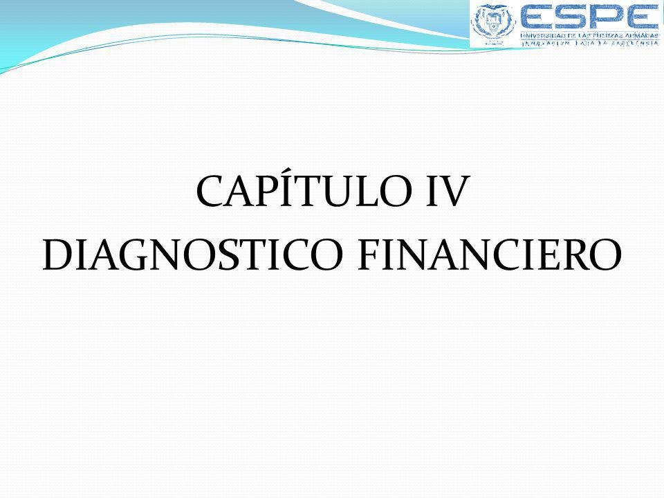 CAPÍTULO IV DIAGNOSTICO FINANCIERO