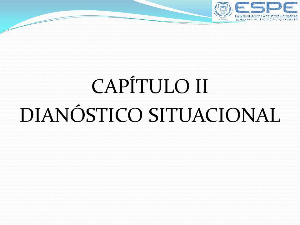 CAPÍTULO II DIANÓSTICO SITUACIONAL