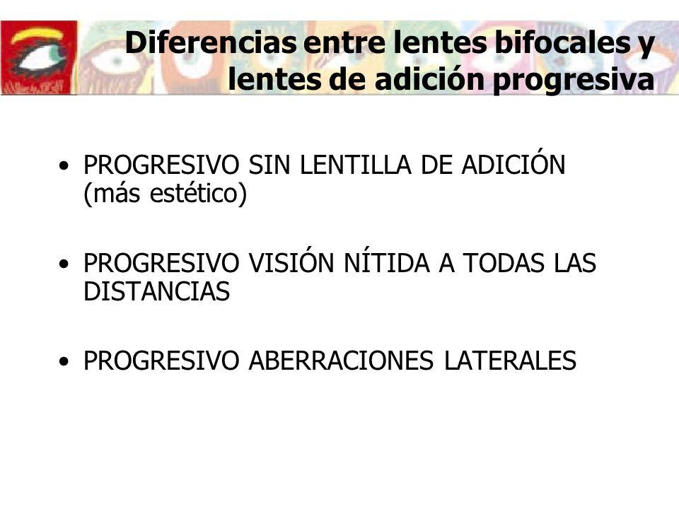 Diferencias entre lentes bifocales y lentes de adición progresiva