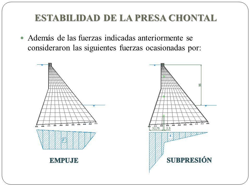 ESTABILIDAD DE LA PRESA CHONTAL