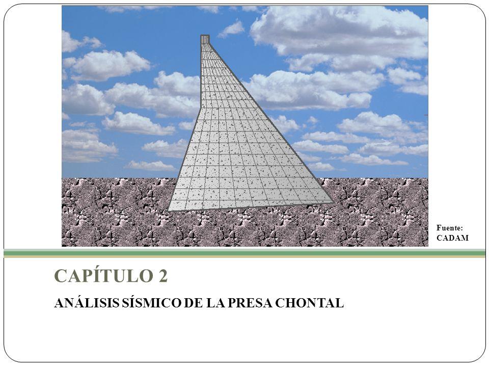 Fuente: CADAM CAPÍTULO 2 ANÁLISIS SÍSMICO DE LA PRESA CHONTAL