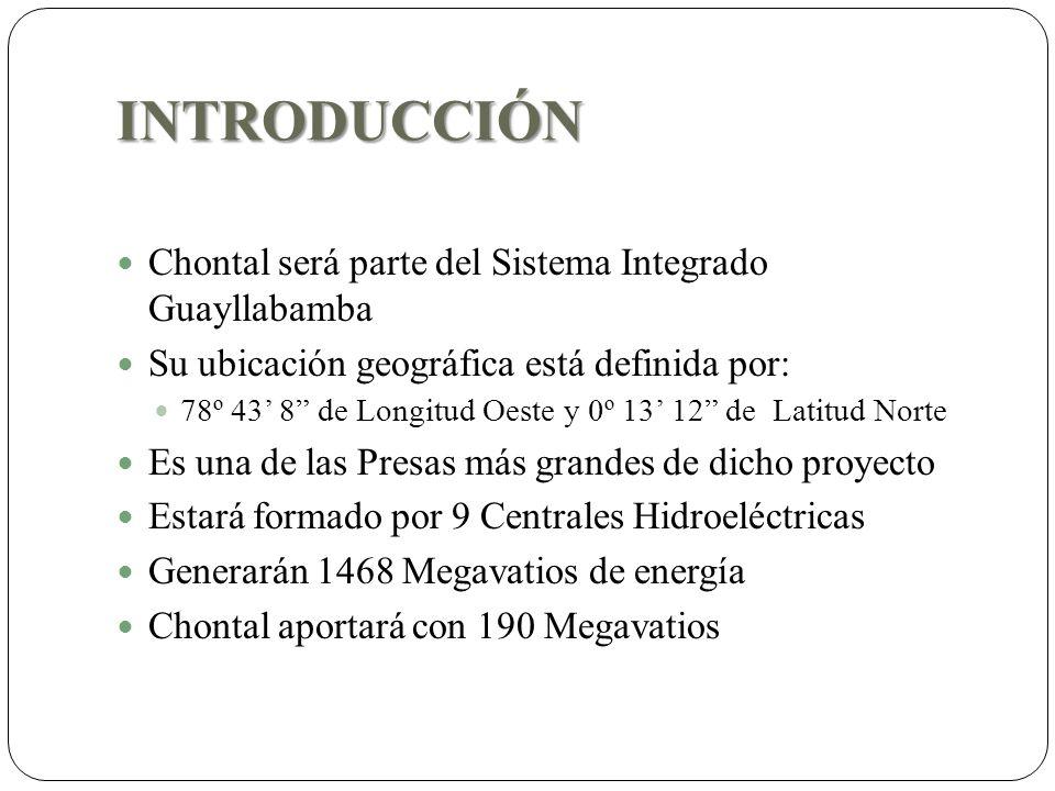 INTRODUCCIÓN Chontal será parte del Sistema Integrado Guayllabamba