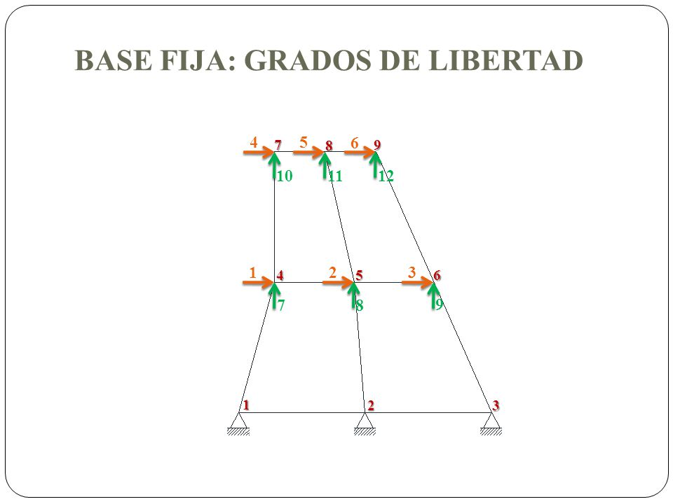 BASE FIJA: GRADOS DE LIBERTAD