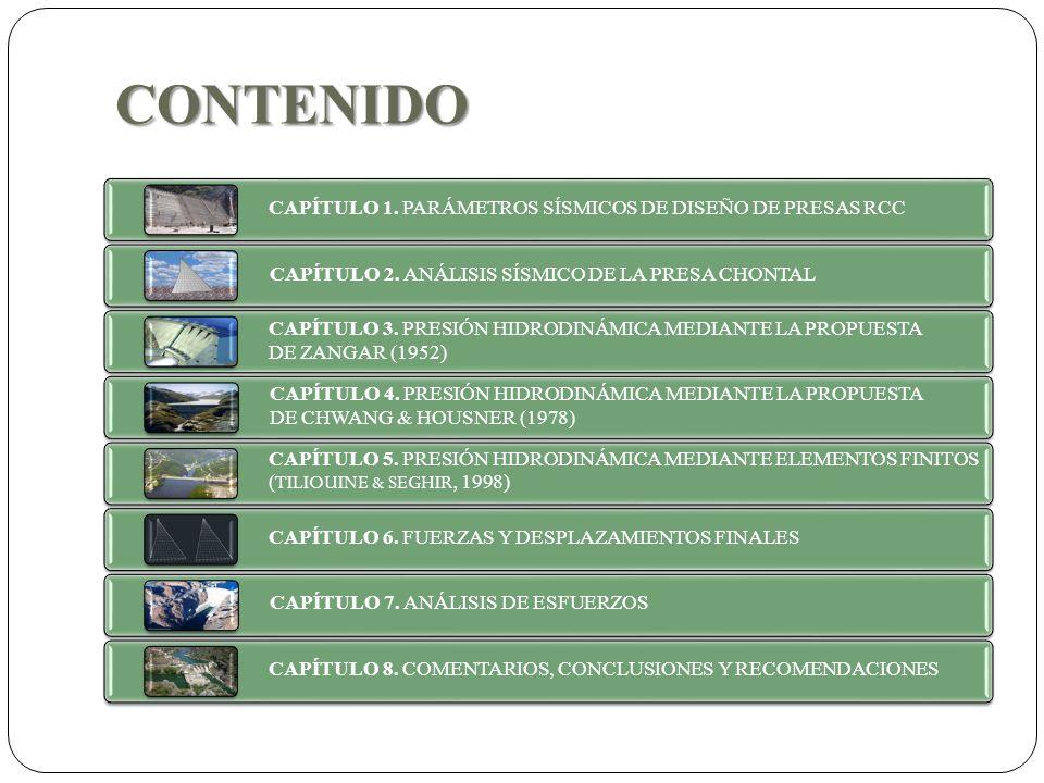 CONTENIDO CAPÍTULO 1. PARÁMETROS SÍSMICOS DE DISEÑO DE PRESAS RCC