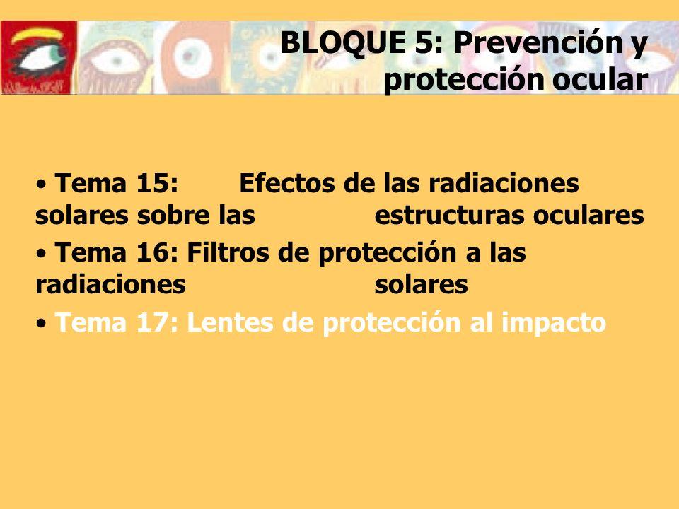 BLOQUE 5: Prevención y protección ocular