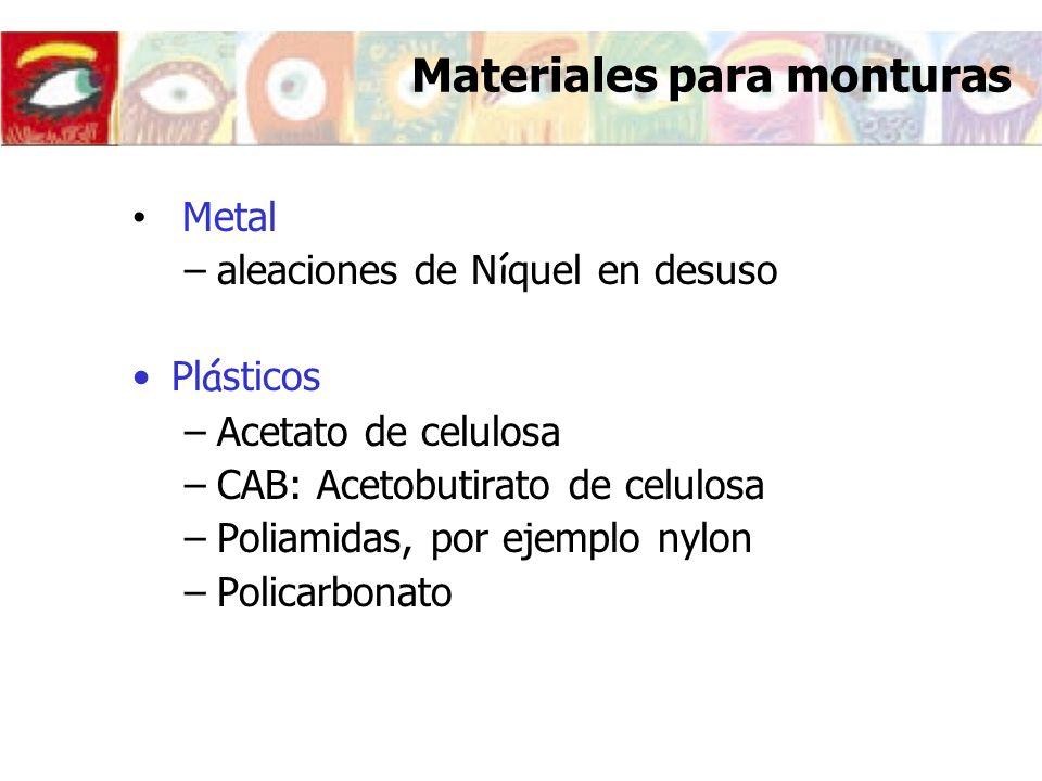 Materiales para monturas