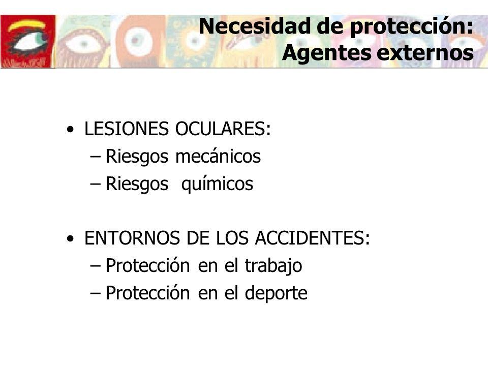 Necesidad de protección: Agentes externos